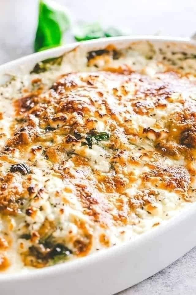 creamy chicken and spinach bake